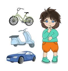 boy games children dream cartoon vector image