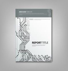 Brochure book with design printed circuit board vector image