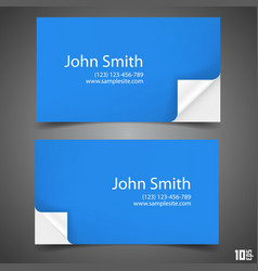 Business card blue vector