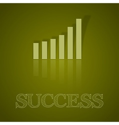 business graph up with text II vector image vector image