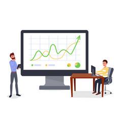 business presentation report vector image
