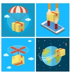 Business set Concept of delivery service vector image