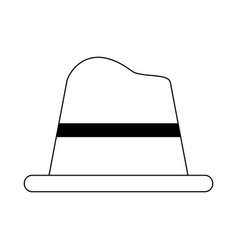 Classic hat for men icon image vector