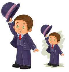 Clip art with young boy in vector
