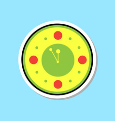 Clock watch showing midnight icon christmas vector