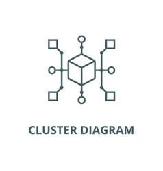 Cluster diagram line icon cluster diagram vector