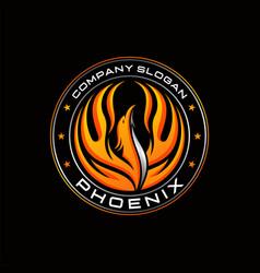 Colorful phoenix logo designs vector