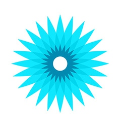 Cornflower stylized logo vector