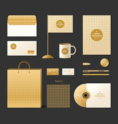 Corporate identity template Logo and design vector image