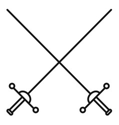 Crossed rapiers icon outline style vector