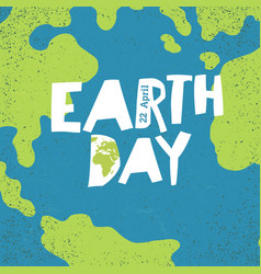 Earth day concept creative design poster for vector