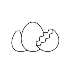 Egg with shell line icon vector