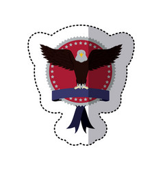 emblem eagle sign icon vector image