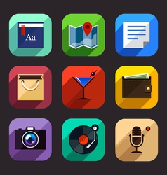 Flat App Icons Set 2 vector image