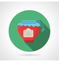 Flat color icon for berry jam vector image