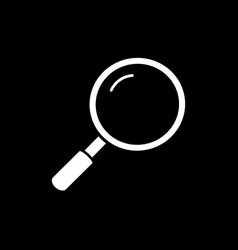 flat line magnifier icon vector image