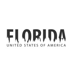 florida usa united states of america text or vector image