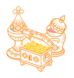 Gold frankincense myrrh vector