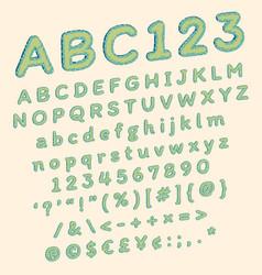 Green polka dots comic font for funny pop art vector