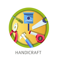 Handicraft school discipline tools and instruments vector