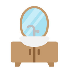 hanger floor flat icon furniture and interior vector image
