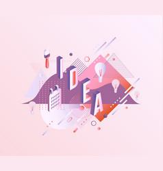 idea vibrant gradient poster template vector image