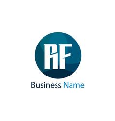 Initial letter rf logo template design vector