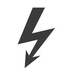 lightning bolt black silhouette icon isolated vector image
