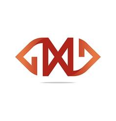 Logo letter X design vector