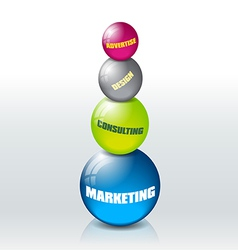 Marketing concept vector