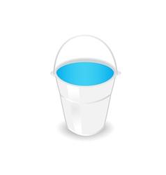 metal bucket vector image vector image