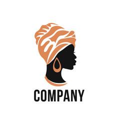 Modern african woman logo vector