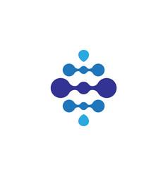 molecule symbol logo template design vector image