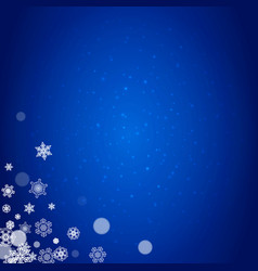 new year snowflakes on blue background vector image