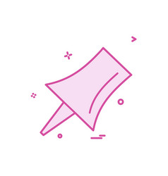 pinned icon design vector image