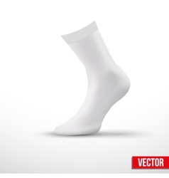 Realistic layout of white socks a simple example vector