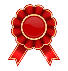 red award badge vector image
