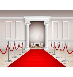 Red Carpet Interior vector image