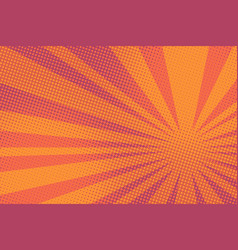 Red pop art rays sunrise vector