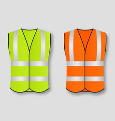 reflective road safety vests isolated on vector image