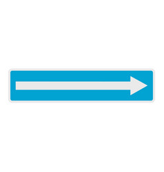 right arrow icon flat style vector image