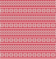 Seamless Winter Holidays Nordic Ornament Pattern vector