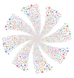 Service tools fireworks swirl flower vector