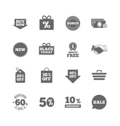 Set of shopping sale and discounts icons vector