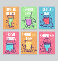 smoothie flyers colorful smoothies poster fresh vector image
