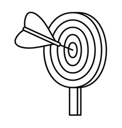 target solution icon outline style vector image