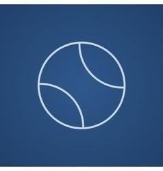 Tennis ball line icon vector