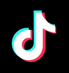 tiktok logo on black background vector image