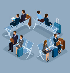Trendy people isometric 3d businessmen vector