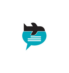trip blog logo vector image